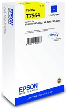 EPSON T7564 cartidge / pro WorkForce Pro WF-8090 DW Series / 14 ml / žlutá