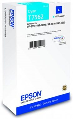 EPSON T7562 cartidge / pro WorkForce Pro WF-8090 DW Series / 14 ml / modrá
