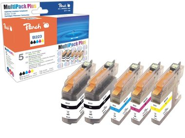Peach alternativní cartridge Brother LC-223 / Brother DCP-J4120DW / s čipem / Multi Pack Plus