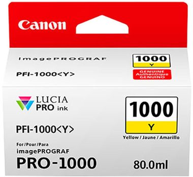 Canon cartridge PFI-1000 Y Yellow Ink Tank
