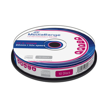 MediaRange CD-R 700MB 52x spindl 10ks