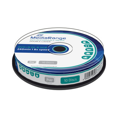 MediaRange DVD+R 8.5GB 8x Dual Layer spindl 10ks