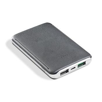 CELLY Powerbanka s 2xUSB / 5000 mAh / 2.4 A / bílý
