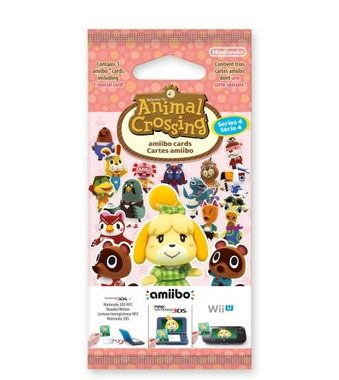 3DS Animal Crossing: Happy Home Designer Card 3set Vol.4 / ammiibo karty