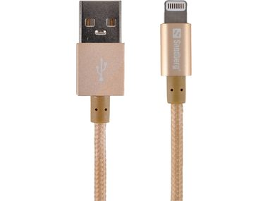 Sandberg USB do Lightning kabel / 1 m / zlatý