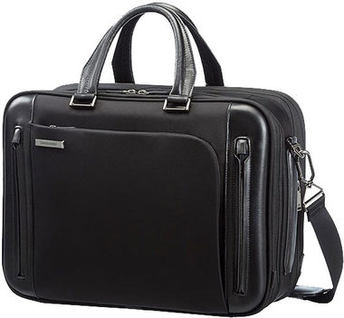 "Samsonite BAILHANDLE L EXP 15.6"" BUSINESS TECH / Brašna na notebook / černá"