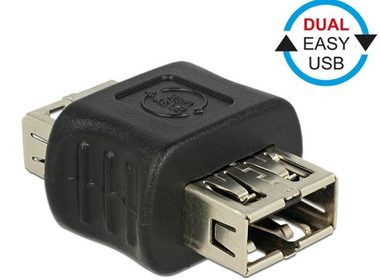 DeLock adaptér EASY-USB 2.0 Type-A samice > EASY-USB 2.0 Type-A samice