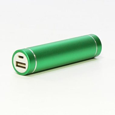 Power Bank 2600mAh / Li-ion / 5V / 1xkonektor / zelená