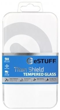 eSTUFF TitanShield Black pro Sony Xperia X / 0.3mm Asahi temperované sklo / Full Cover Glass