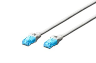 DIGITUS Ecoline Patch Cable bílý 1m / UTP / CAT 5e / AWG 26:7