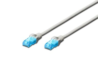 DIGITUS Ecoline Patch Cable šedý 15m / UTP / CAT 5e / AWG 26:7