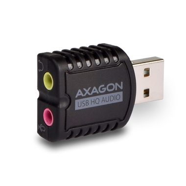 AXAGON MINI adaptér / USB2.0 - stereo HQ audio / 96kHz