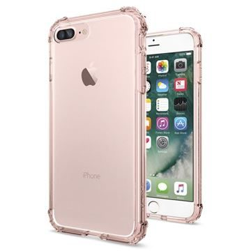 Spigen Crystal Shell Rose Crystal / tenký kryt pro Apple iPhone 7 Plus / růžová