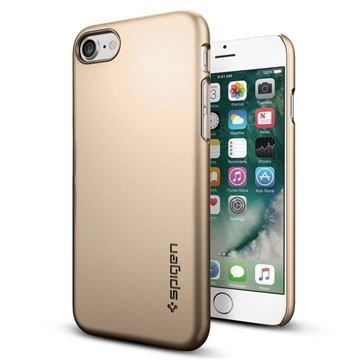 Spigen Thin Fit Champagne Gold  / ultra tenký kryt pro Apple iPhone 7 / zlatá