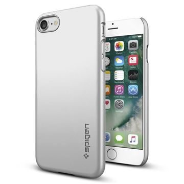 Spigen Thin Fit Satin Silver  / ultra tenký kryt pro Apple iPhone 7 /stříbrná