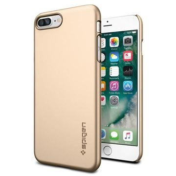 Spigen Thin Fit Champagne Gold  / ultra tenký kryt pro Apple iPhone 7 Plus / zlatá