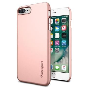 Spigen Thin Fit Rose Gold / ultra tenký kryt pro Apple iPhone 7 Plus / růžovo-zlatá