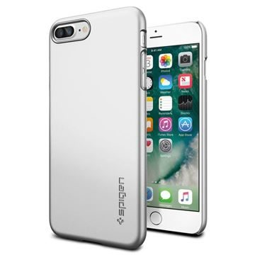 Spigen Thin Fit Satin Silver  / ultra tenký kryt pro Apple iPhone 7 Plus / stříbrná
