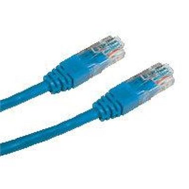 DATACOM Patch kabel UTP CAT5E 0.5m modrý