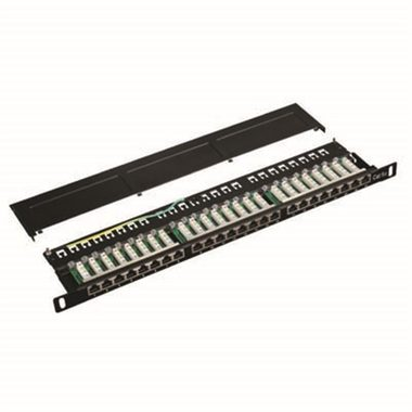 "DATACOM Patch panel 19"" STP 24 port / CAT5E / LSA 0.5U"