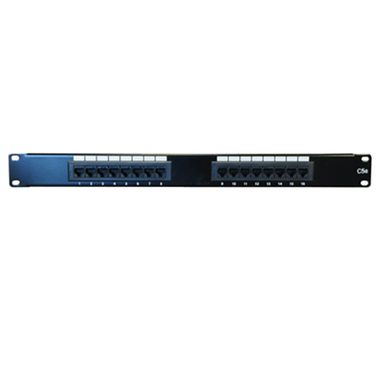 "DATACOM Patch panel 16p. UTP / CAT5E / 1U / 19"" / LSA Krone"