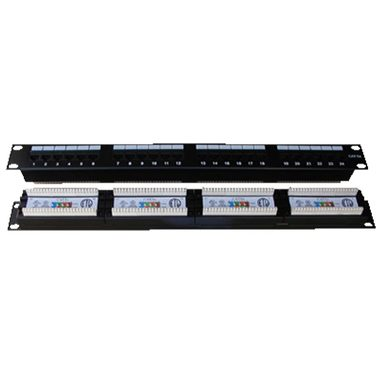 "DATACOM Patch panel 24x / RJ-45 / CAT5E / UTP / 1U / 19"" / Dual"