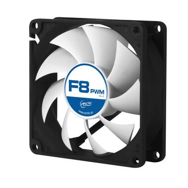 Arctic F8 PWM PST,  80x80x25 mm case fan with PWM control and PST cable