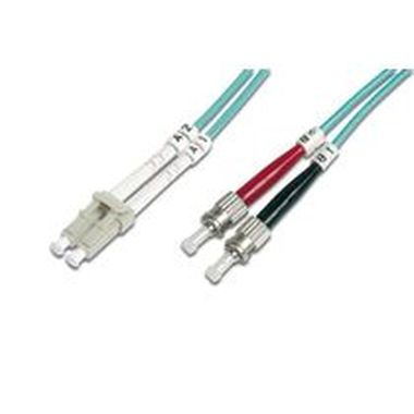 Digitus Fiber Optic Patch Cable, LC to ST,Multimode 50/125 µ, Duplex Length 10m, Class OM3
