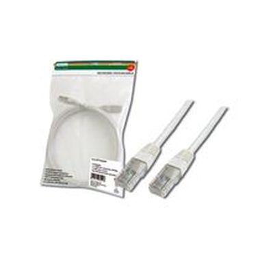 Digitus Patch Cable, UTP, CAT 5e, AWG 26/7, měď, bílý 3m