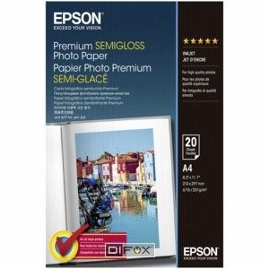EPSON Paper A4 Premium Semigloss Photo (20 sheets) 251g/m2