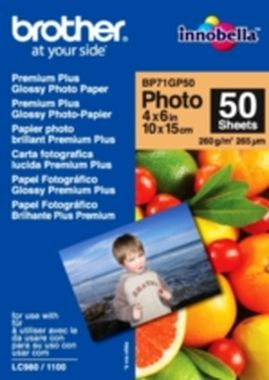 Brother fotopapír BP71GP50, 50 listů, 10x15cm Premium Glossy, 260g