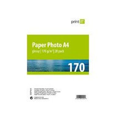 PRINT IT Paper Photo A4 170 g/m2 Glossy 20pck/BAL