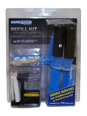 SAFEPRINT Refill kit UNIVERZAL pro HP 21, 27, 56 (C9351, C8727, C6656) - 2x zásobník INK 20ml