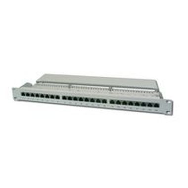 DIGITUS Patch Panel, CAT5E, stíněný, 24x 8P8C LSA, 1U, šedý