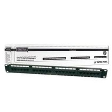"DIGITUS Patch Panel, Cat 5e, nestíněný, 19"", 24 port"