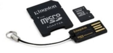 KINGSTON 32GB micro SD + SD adaptér + microSD čtečka Gen2 class 4 / výprodej