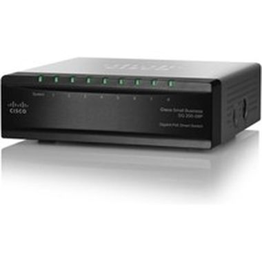 Cisco SG200-08P / Switch / 8-port 10/100/1000 Mbps / PoE