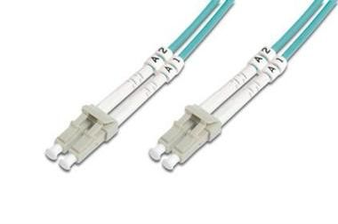 Digitus Fiber Optic Patch, LC to LC,Multimode 50/125µ,Duplex,Class OM3, 5m