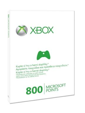Microsoft Xbox360Live Points Xbox 360 CS/EL/SK EMEA 800 Points Refresh
