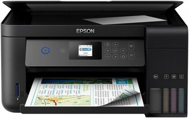 EPSON EcoTank L4160 / 3in1 / CIS / A4 / 33ppm black / 4ink / USB / Wi-Fi / LCD touch-panel / SD reader / Tank system