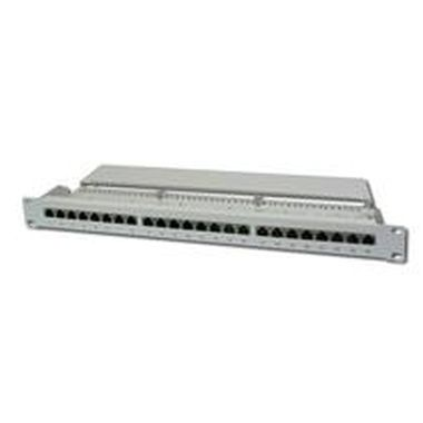 "DIGITUS Patch panel,CAT5E,19"",24xSTP RJ45,béžová"