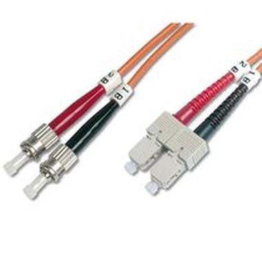 DIGITUS Fiber Optic Patch Cord, ST to SCMultimode 50/125 µ, Duplex Length 10m