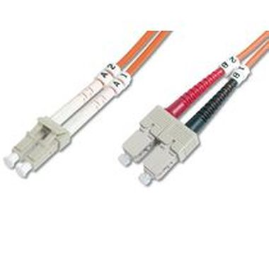 DIGITUS Fiber Optic Patch Cord, LC to SCMultimode 50/125 µ, Duplex Length 2m