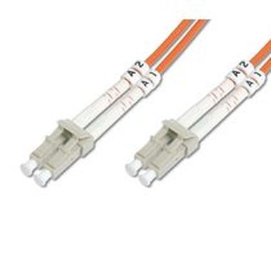 DIGITUS Fiber Optic Patch Cord, LC to LCMultimode 50/125 µ, Duplex Length 15m