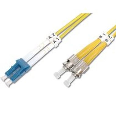 DIGITUS Fiber Optic Patch Cord, LC to ST Singlemode 09/125 µ, Duplex Length 2m
