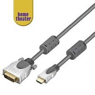 Home Theater HQ kabel HDMI male <> DVI-D male (24+1) single link 1,5m