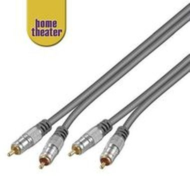 Home Theater Propojovací HQ 2x CINCH RCA - 2x CINCH RCA kabel 2.5m M/M