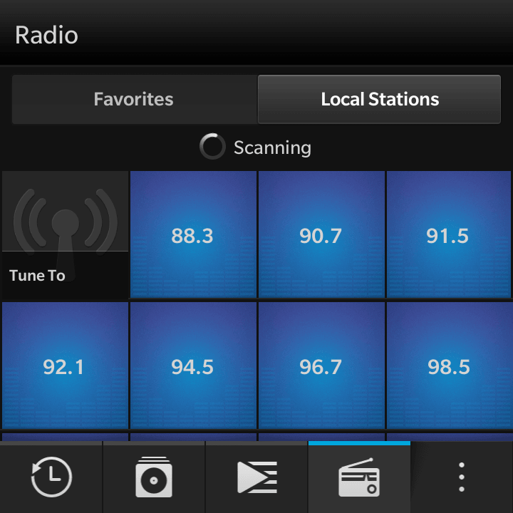 Blackberry Passport FM Radio