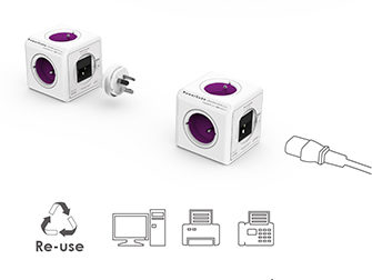 PowerCube Rewirable + TRAVEL PLUGS + IEC | Doma i na cestách